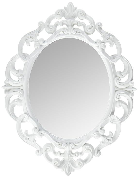 Amazon Com Kole White Oval Vintage Wall Mirror Home Kitchen