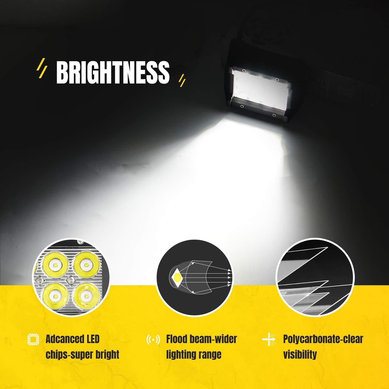 GOOACC Led Light Bar 10 PCS 18W 4Inch Spot Led Bar Fog Lights Led Off Road Lights Driving Lights