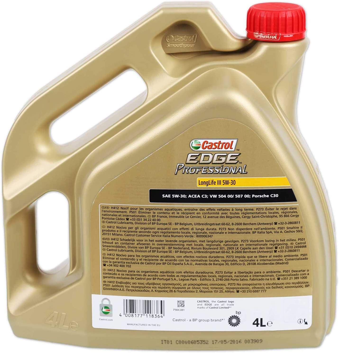Castrol Edge Professional Longlife Iii 5w 30 Motoröl 4l Auto