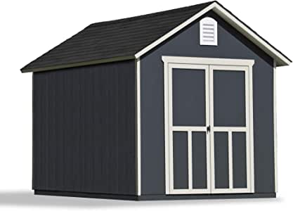 Handy Home Products 19348-4 Meridian 8x10 with Floor Storage Shed, Tan