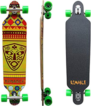 RIMABLE Drop-Through Cheap Longboard