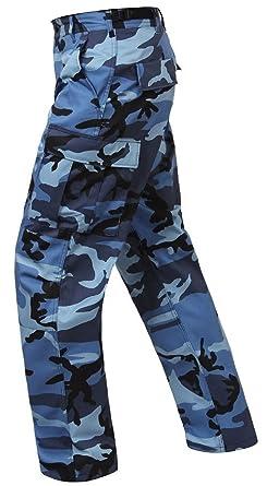 Amazon.com  Bellawjace Clothing Sky Blue Camo 6-Pocket Military Poly ... 329cdc979ae