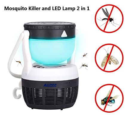 Superior ALUNAR LED Mosquito Killer Lamp Insect Repellent Bug Fly Zapper Trap Pest  Control Night Light Portable