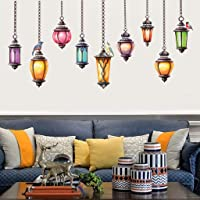 New DIY Removable Pendent Lamp Bedroom Living Room Wallpaper Wall Sticker