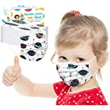 Ecnobia 3 Ply Non-Woven, 50Pcs Disposable Face Bandanas with Cosmic Planet Pattern, Breathable and Anti-Haze Dust, for…