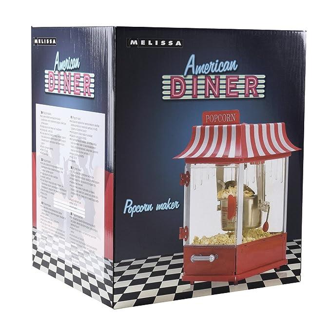 Melissa Popcorn Maker/eléctrica en American Diner Retro Diseño: Amazon.es: Hogar
