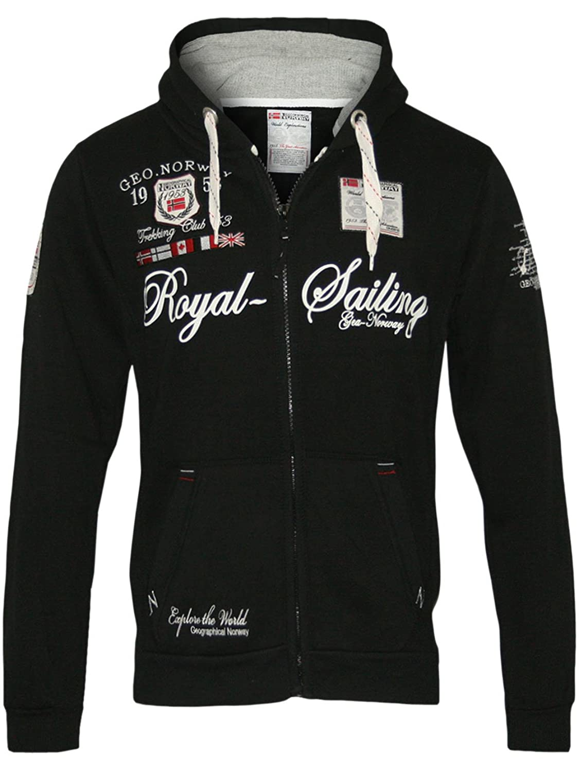 GEOGRAPHICAL NORWAY Hombre Diseñador Capucha Chaqueta FIGHTER
