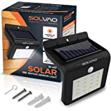 SOLVAO Solar Motion Sensor Light (16 LED) - Outdoor Security Lights w/ Ultra Bright 416 Lumen Output - Auto On/Off Night Detector - Outside Security Lighting for Your Wall, Porch, Deck & Exterior