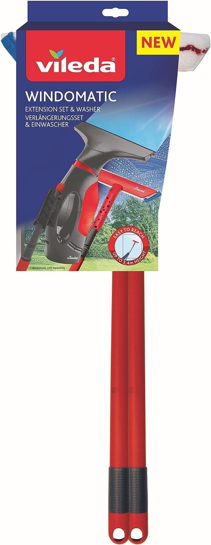 Vileda Wind omatic alargadores Juego Ventana Dispositivo Limpiador, Metal, Rojo, 0,6 x 29,5 x 77 cm, 2 Unidades de Medida: Amazon.es: Hogar