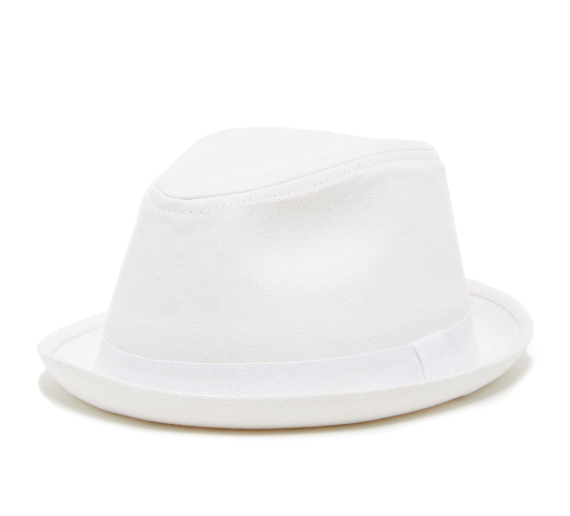 Born to Love Boy's Fedora Hat with White Band (49 cm, White)