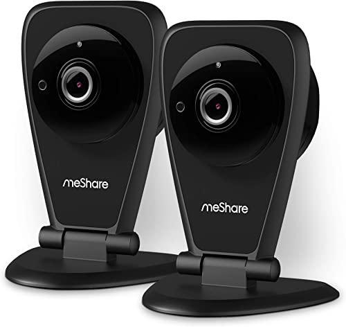 meShare Security Camera 1080p – Home Camera Wireless Cloud Cam System with Two Way Audio, Night Vision and Smart Motion Alerts, Seniors, Pet, Baby Monitor, Works with Alexa 2 Pack