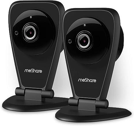 MeShare Cloud CAM - Pack de 2 cámaras de Seguridad inalámbricas de ...