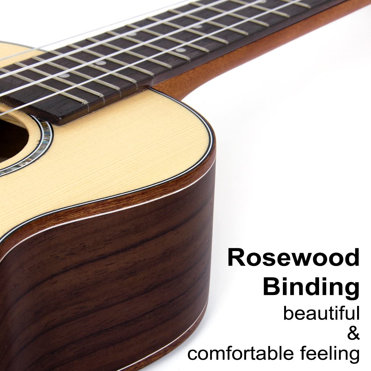 kmise Concierto Ukelele UKE Acoustic Hawaii guitarra con 18 ...