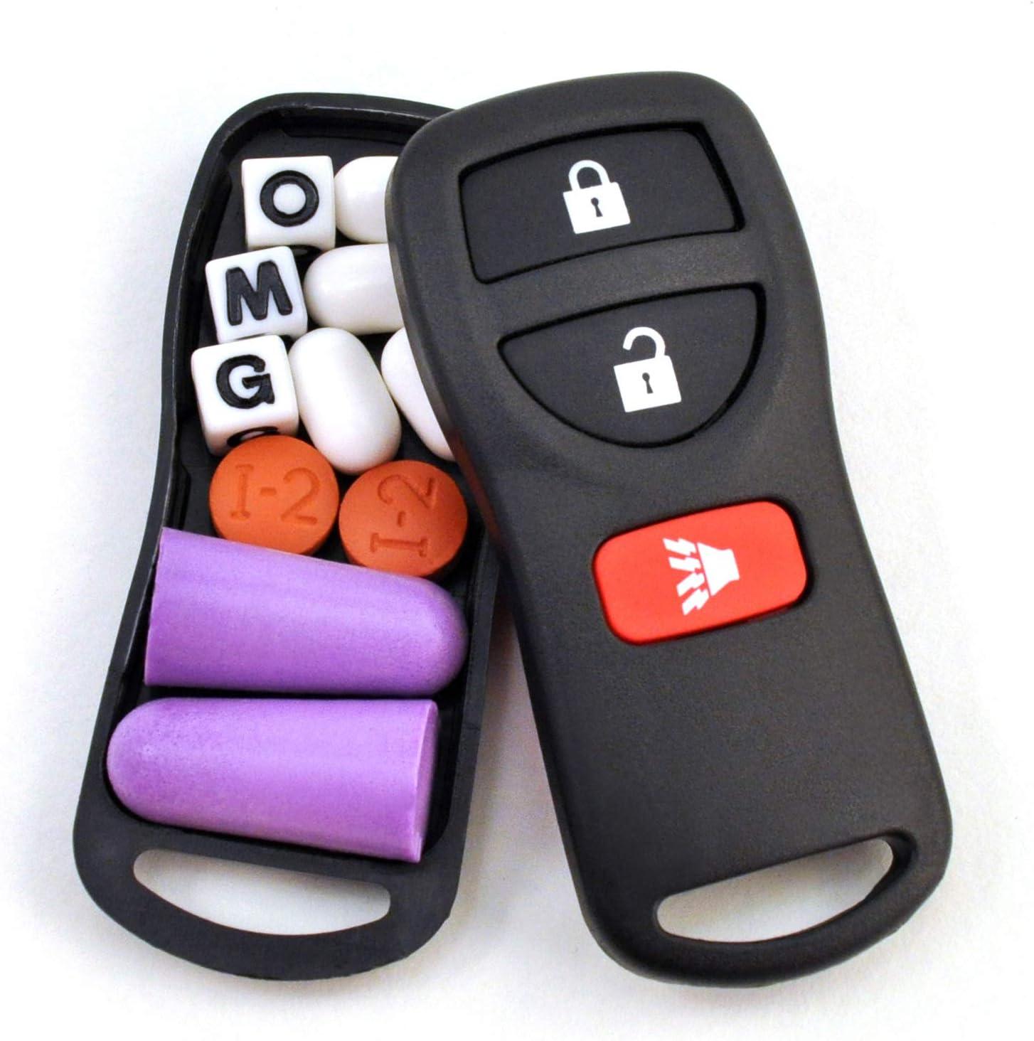 Festivaults The Snea-Key Fob Secret Stash Box Hidden Compartment Diversion Safe Fake Car Key