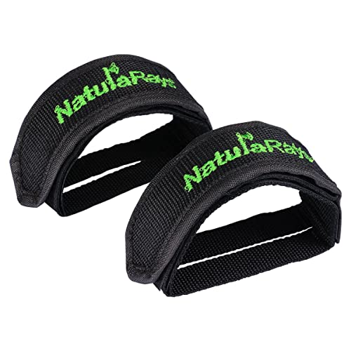 1 Pair Fixed Gear Fixie BMX Bike Bicycle Double  Pedal Toe Straps Black
