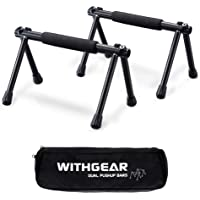 Withgear Folding Push Up Bar - Portable and Lightweight Sturdy Duralumin Metal Push Up Bars and Indoor and Outdoor…
