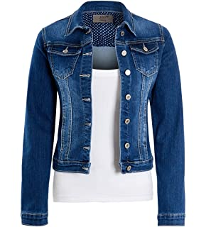 d502bc3b4bf SS7 Womens Size 14 16 18 20 Stretch Denim Jacket Ladies Indigo Jean ...