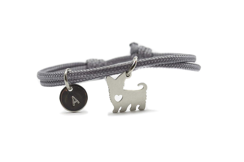 Armband Hund Edelstahl Gravur Segeltau Verstellbar Vegan Amazon De Handmade