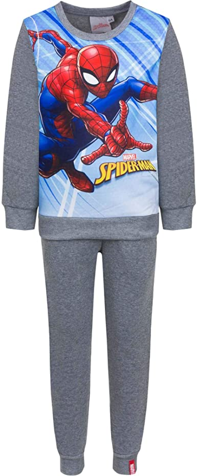 Spiderman Chándal Infantil niños Forro Interior Afelpado: Amazon ...