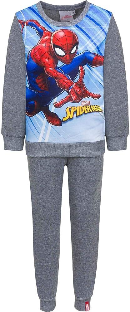 Chándal Infantil Spiderman para niños forro interior afelpado (6 ...