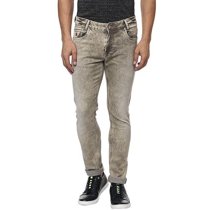 fe2894ac2439 Mufti Khaki Super Slim Fashion Jeans  Amazon.in  Clothing   Accessories
