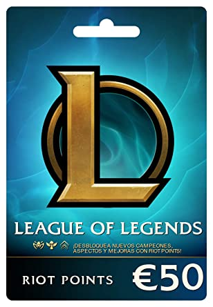League of Legends €50 Tarjeta de regalo prepaga (7200 Riot ...