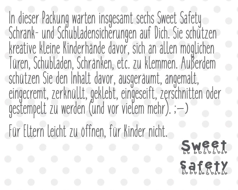 Sweet Safety® | Baby Kindersicherung | 6 Stück | zum Kleben Stark ...
