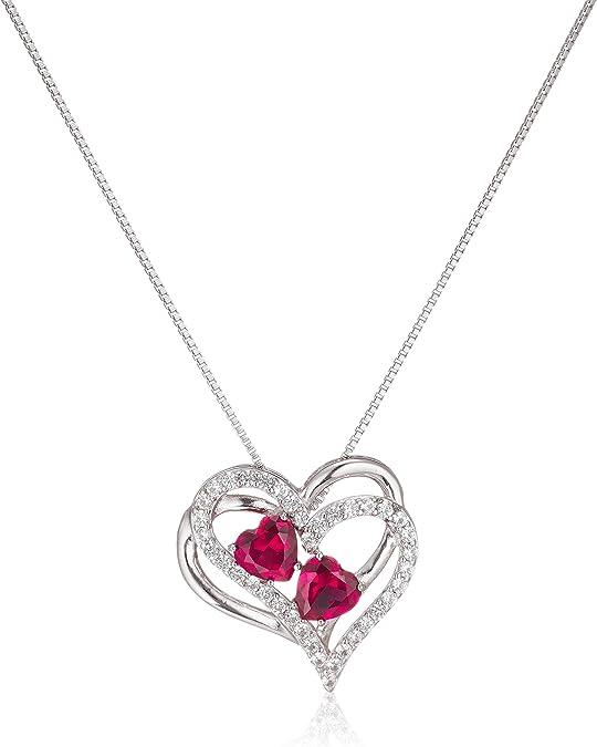 Stone Hearts Short Necklace