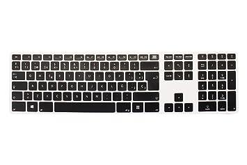 Bleujour CTRLPCBTKESW - Teclado Bluetooth para PC, Teclado Español, Color Blanco Aluminio