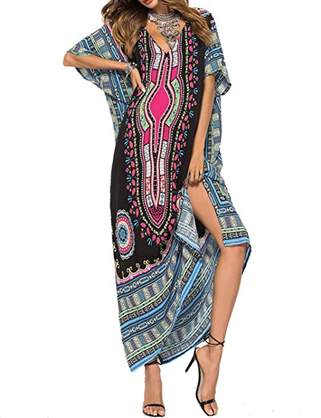 Amazon.com: GRACIN - Vestido de kaftan de tamaño grande ...