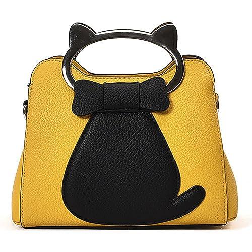 Onfahion Bolso de Mano para Mujer Bolso de Oreja de Gato Bolso con Manija en forma Gato Bolsa de Hombro: Amazon.es: Zapatos y complementos