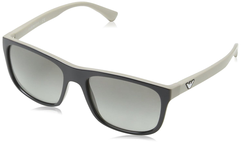 64e405fb37 Armani EA4085 Sunglasses 555711-56 - Topaz Grey On Beige Frame, Grey  Gradient at Amazon Men's Clothing store: