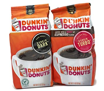 General Variety Pack - Dunkin Donuts Ground Coffee (11oz) - Dunkin Dark, Dunkin