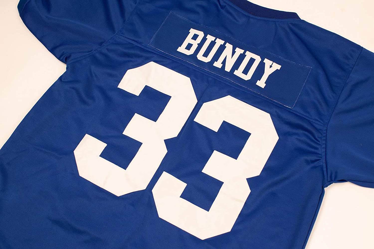 AIFFEE Mens #33 Bundy Football Jersey Blue Color Stithched Size S-3XL