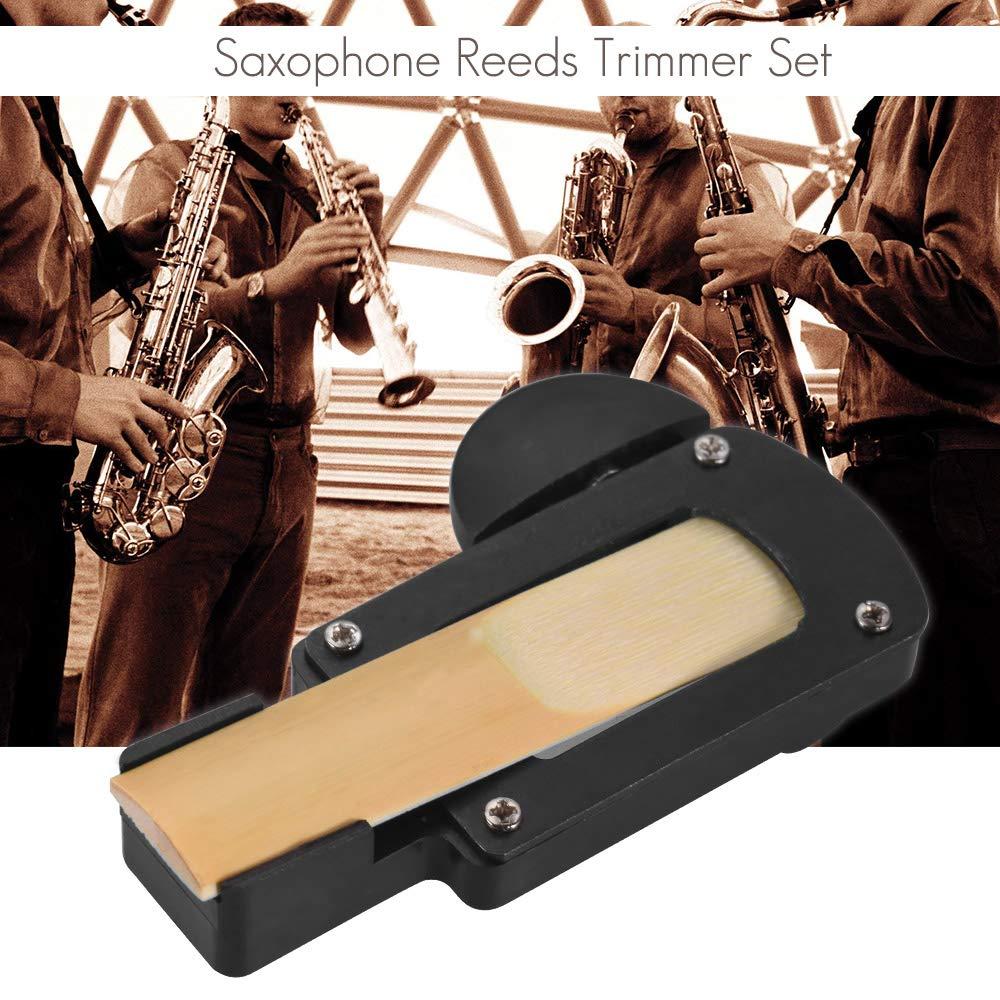Kalaok Ca/ñas para saxof/ón Recortadora con ca/ñas 2.5 Fuerza y boquillas Almohadillas para instrumentos musicales Instrumento de instrumentos de viento de madera Instrumento de reparaci/ón para saxof/ón