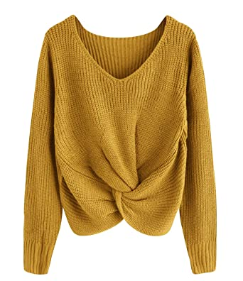timeless design 4c17a 0a60d Pullover Damen V Ausschnitt Strick Strickpullover Oversize ...