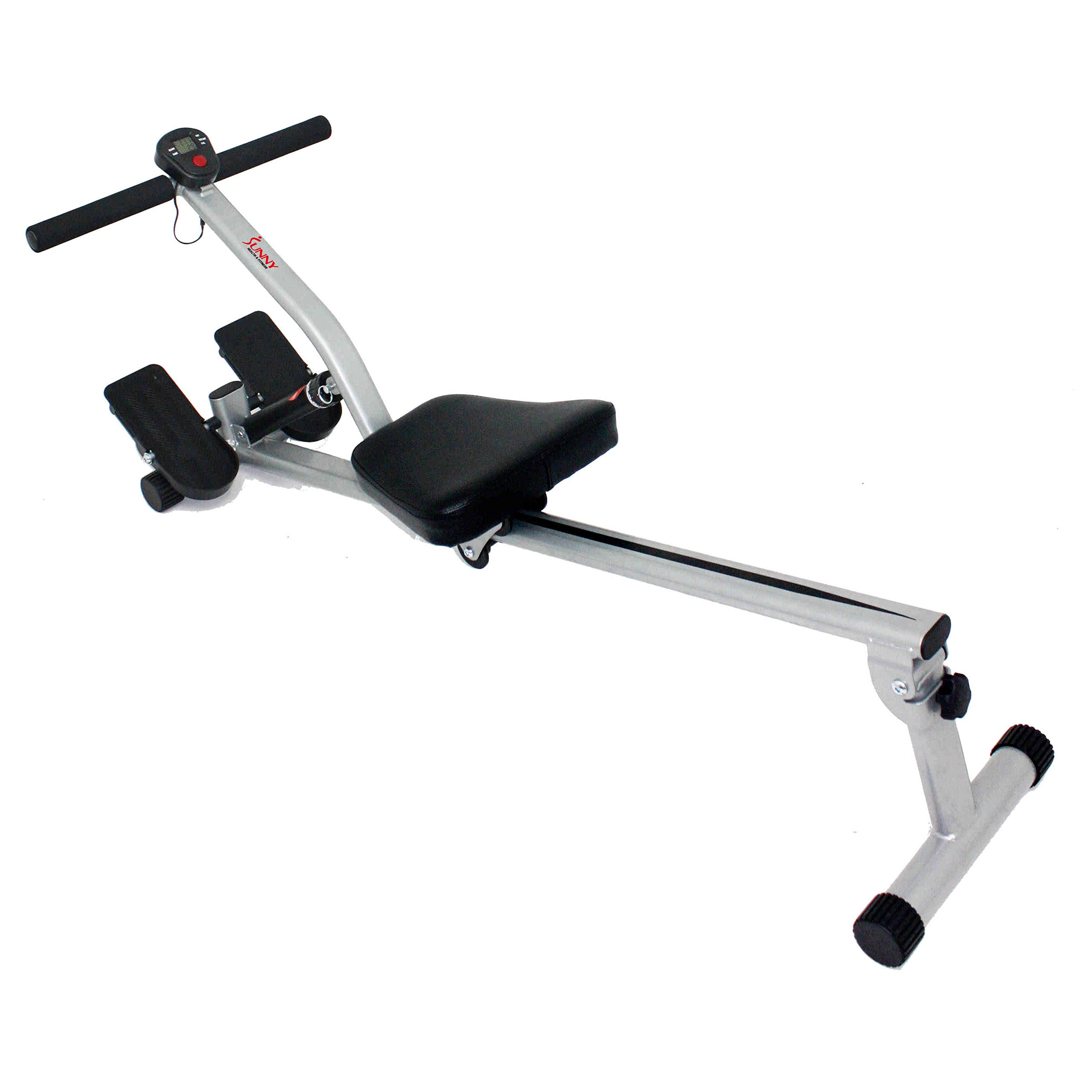 Sunny Health & Fitness SF-RW1205 12 Adjustable Resistance Rowing Machine Rower w/Digital Monitor
