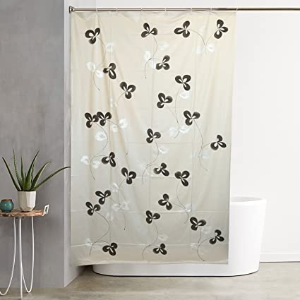 Kuber Industries PVC Shower Curtain - 7ft, Grey