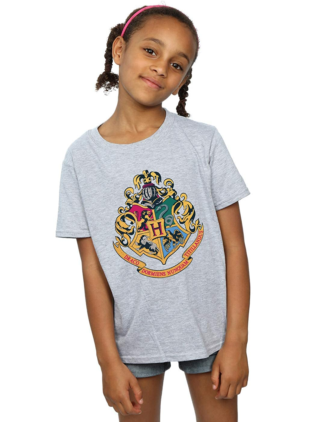 HARRY POTTER Camiseta de Manga Larga para ni/ñas Hogwarts