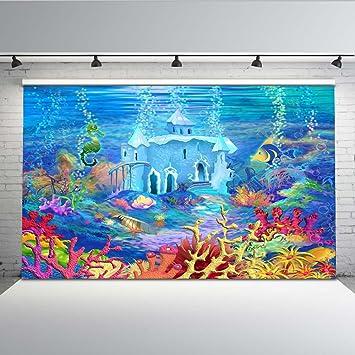 Mehofoto Aquarium Telón de fondo bajo el mar Tropical Fish Coral Fotografía Fondo 7x5ft Tanque de peces Acuario marino Photo Backdrops: Amazon.es: ...