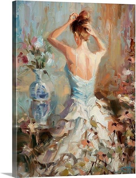 Amazon Com Figurative Ii Canvas Wall Art Print 30 X40 X1 25 Posters Prints