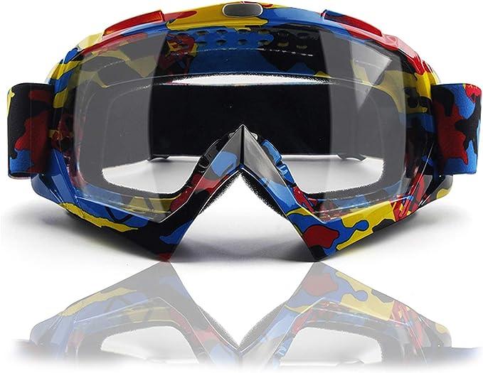 Motocross Motorcycle Goggles Dirt Bike Riding Goggles ATV Goggles Anti Fog Glasses for Cycling Racing Off Road /& Ski Snowborading