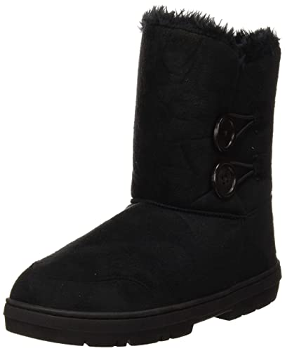 dde23ff28 Womens Twin Button Fully Fur Lined Waterproof Winter Snow Boots ,5 B(M)