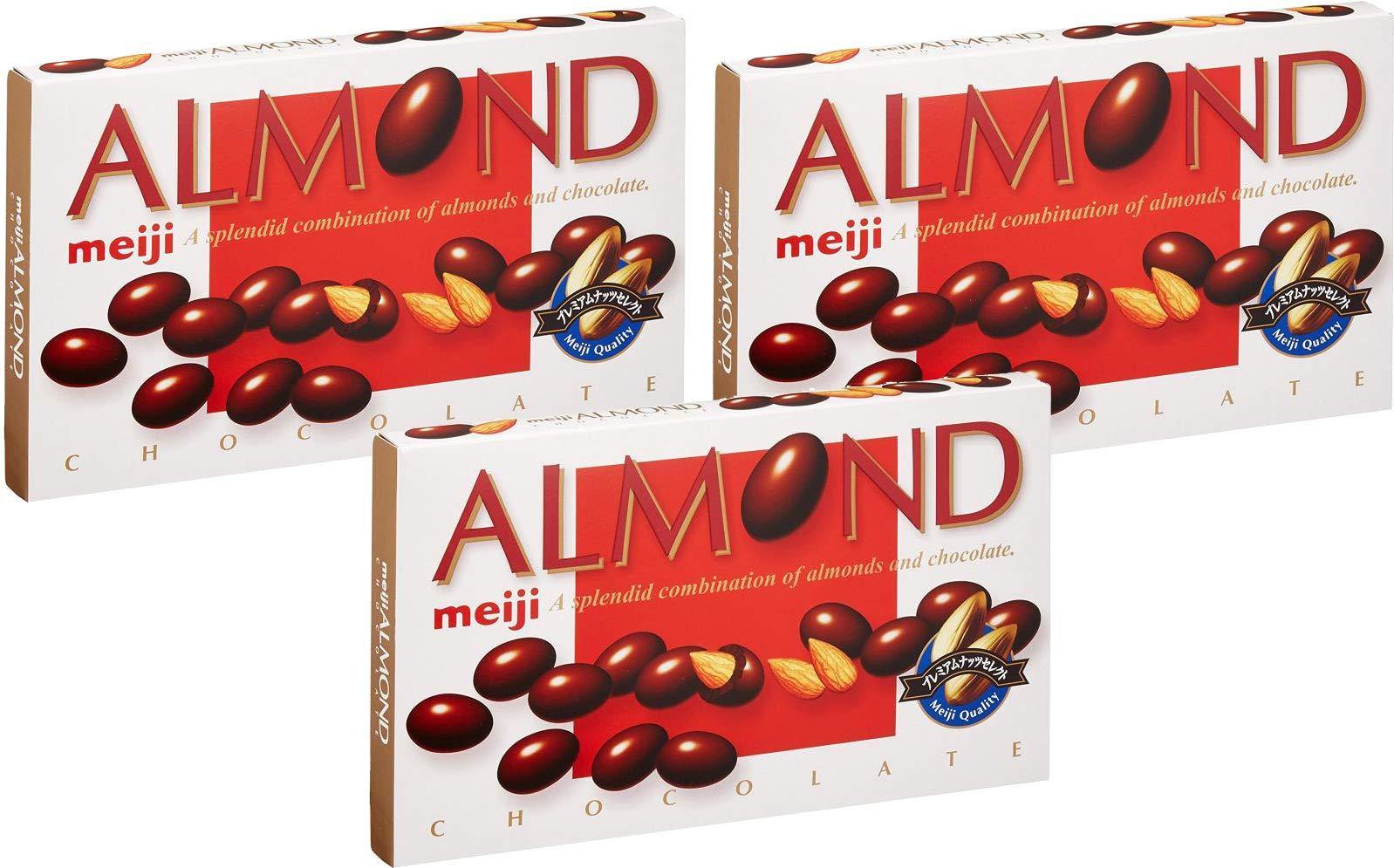 Meiji Almond Chocolate Box 3.10oz (3 Pack) by Meiji