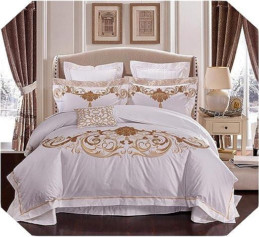 Juego de ropa de cama de 4 o 6 y 10 piezas de algodón egipcio de