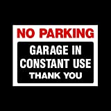 No Parking Garage In Constant Use Sticker Self Adhesive