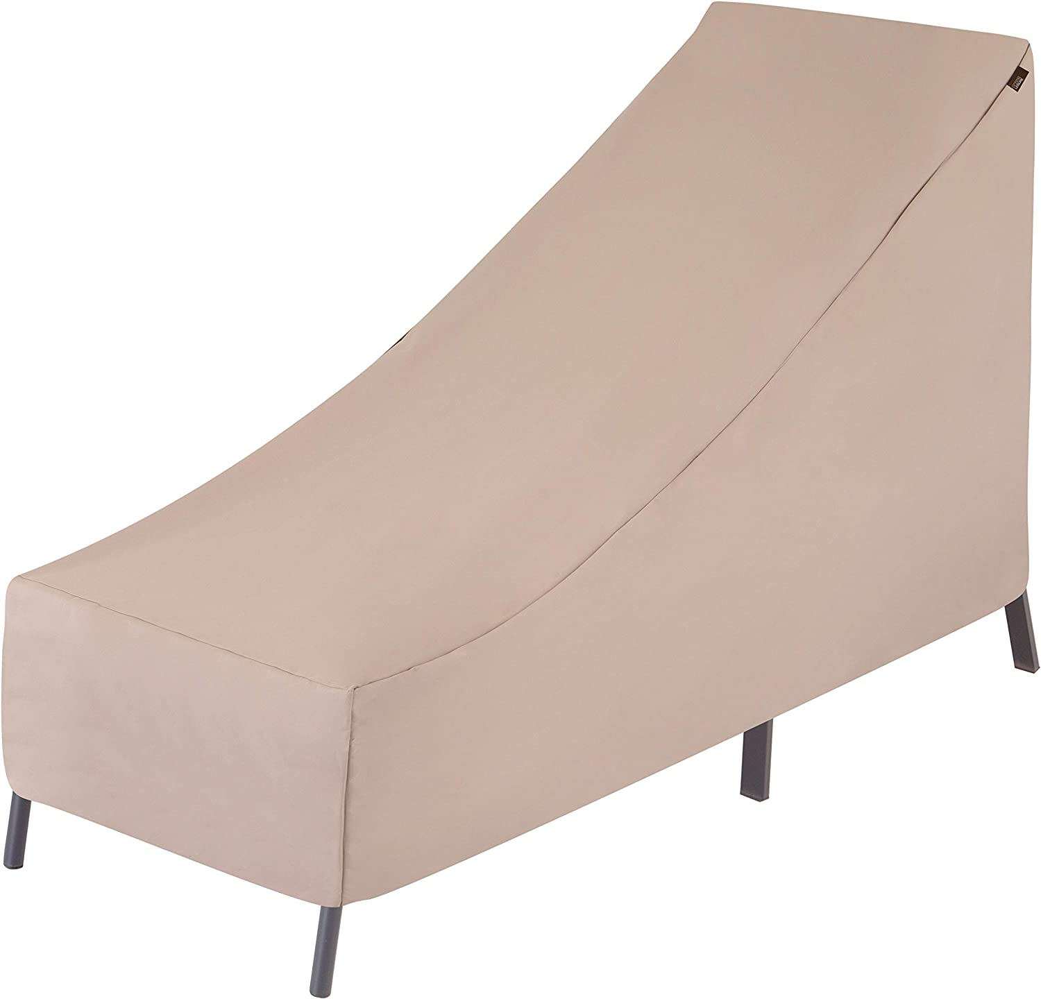 Modern Leisure 2934 Chalet Patio Chaise Lounge, Outdoor Cover (65 L x 25 D x 29 H inches) Water-Resistant, Khaki/Fossil