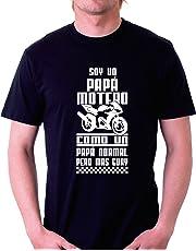 Custom Vinyl Camiseta Motor Soy un Papa Motero Moto GP (M)
