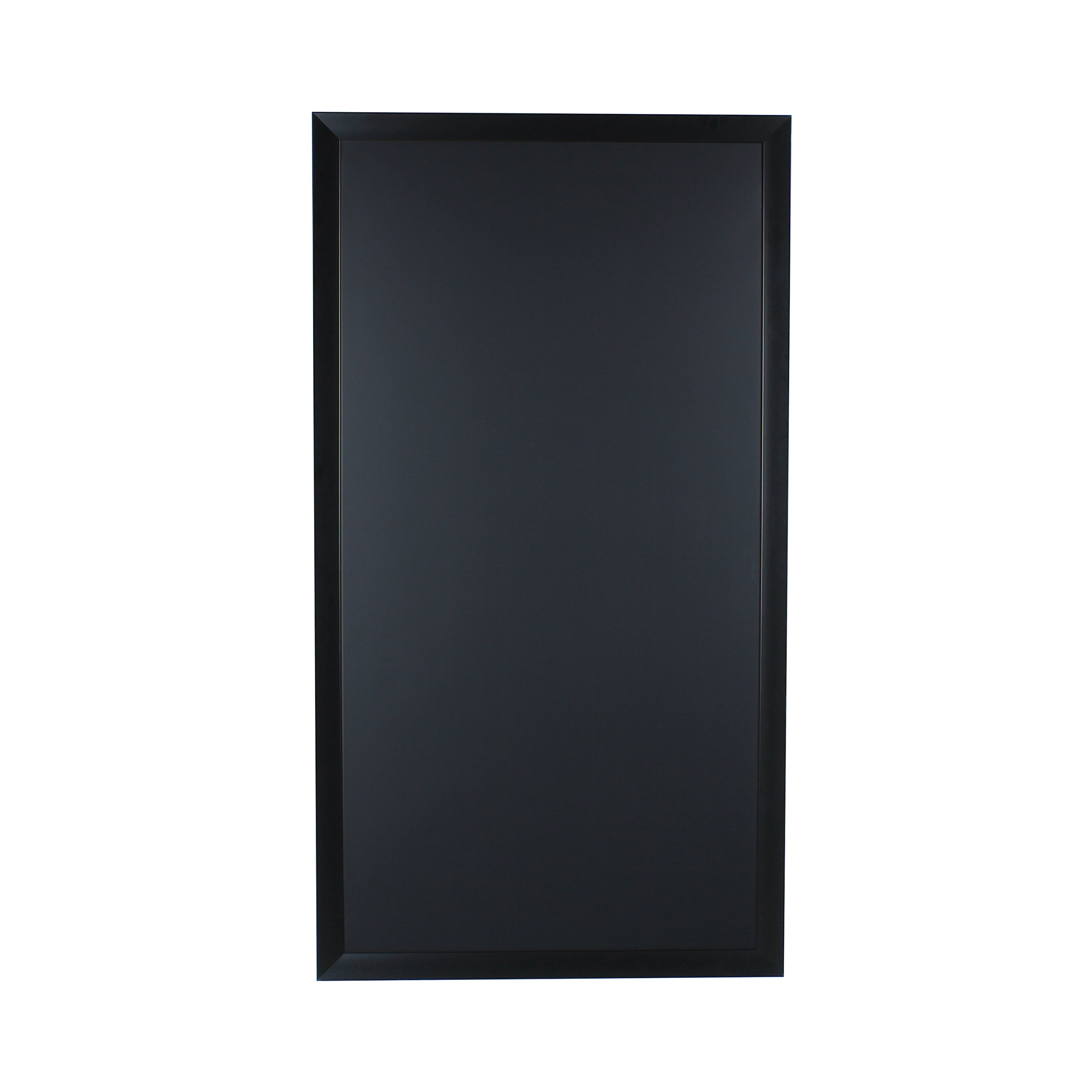 Beatrice Wall Mounted Oversized Framed Magnetic Chalkboard, Black