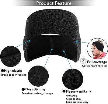 Details about  /2021 Headband Fleece Sweat Winter Running Ski Elastic Headwear Covering New O5O4